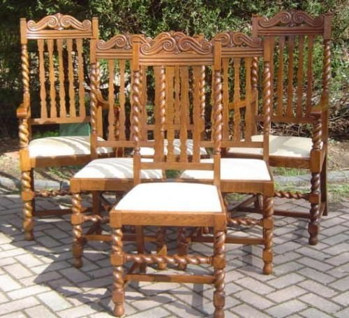 set of 6 antique oak dining chairs - Set Of 6 Antique Oak Dining Chairs 28818 Sellingantiques.co.uk