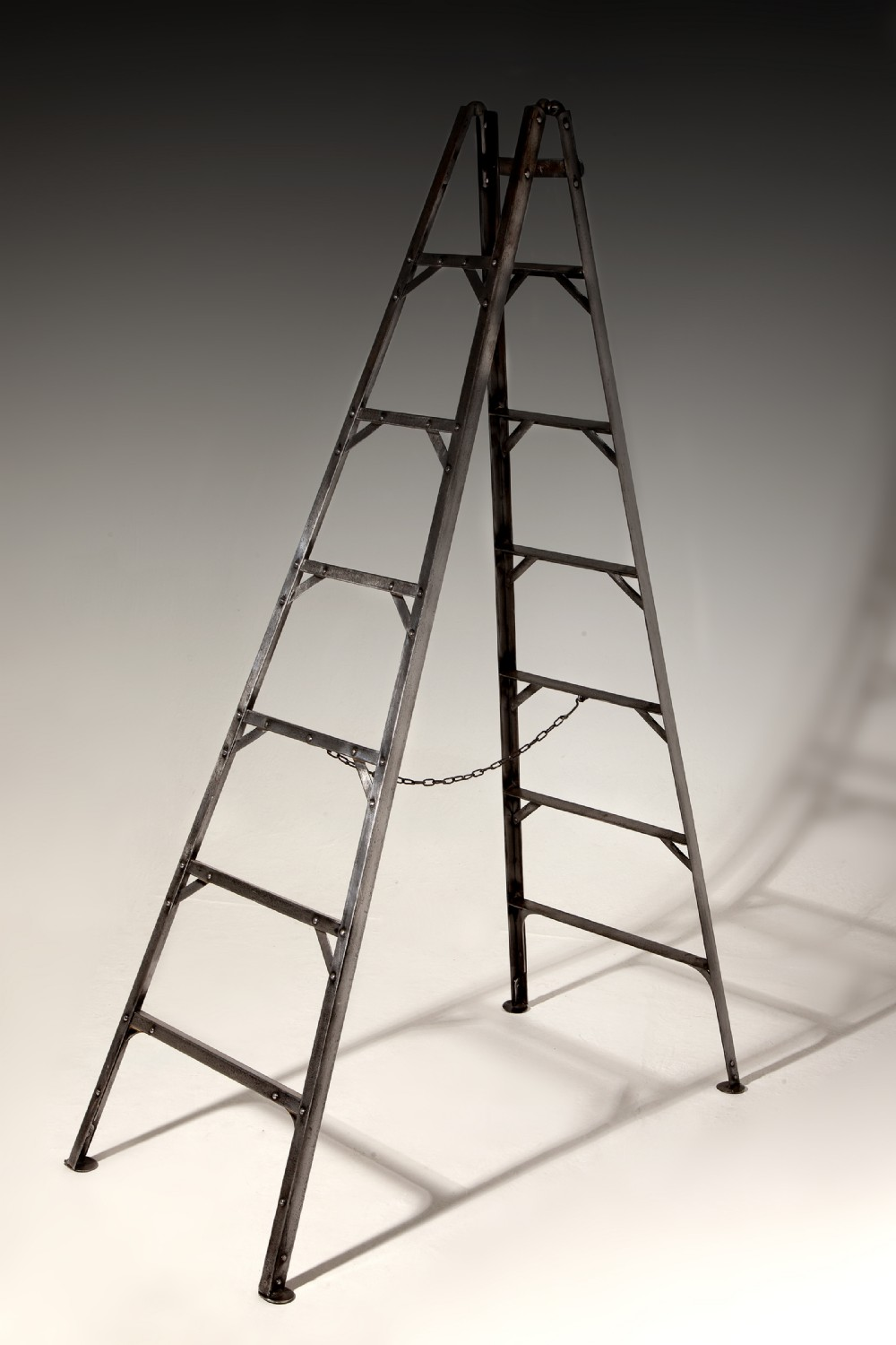 a rare set of early 19th century pruninglibrary ladders