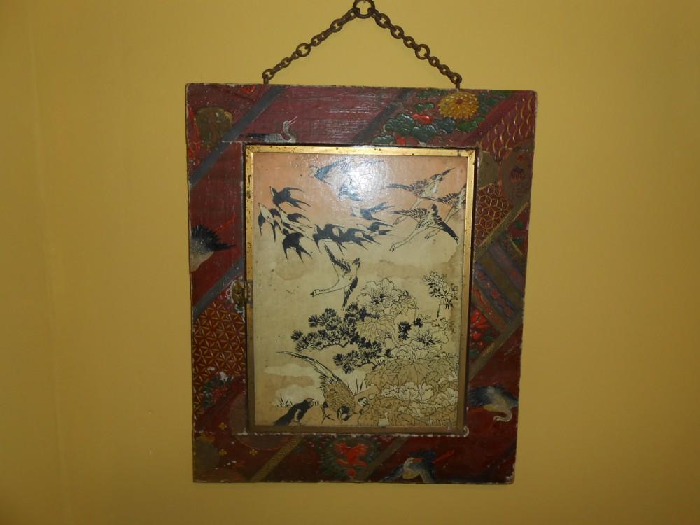 japanese style papier mache mirror