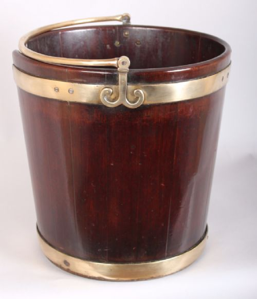 george iii period mahogany plate bucket