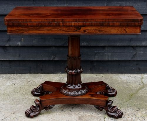 superb quality regency rosewood card table circa 1810