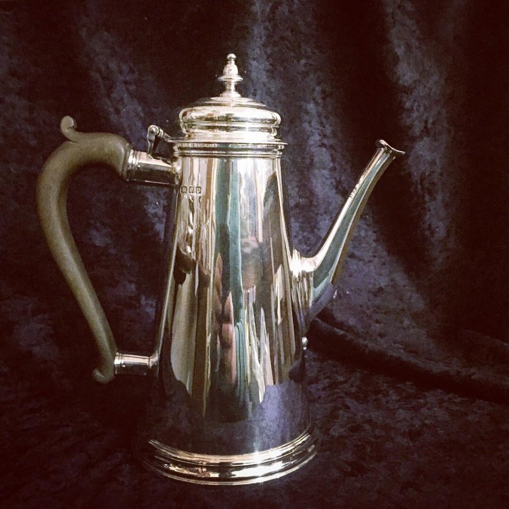 georgian style silver coffee pot