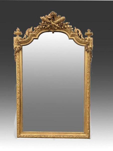 late 19th century large ornate gilt mirror