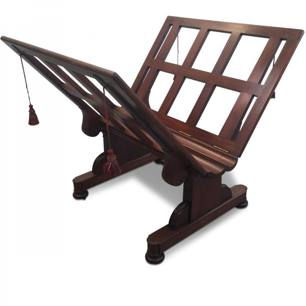 mahogany folioplanchart stand