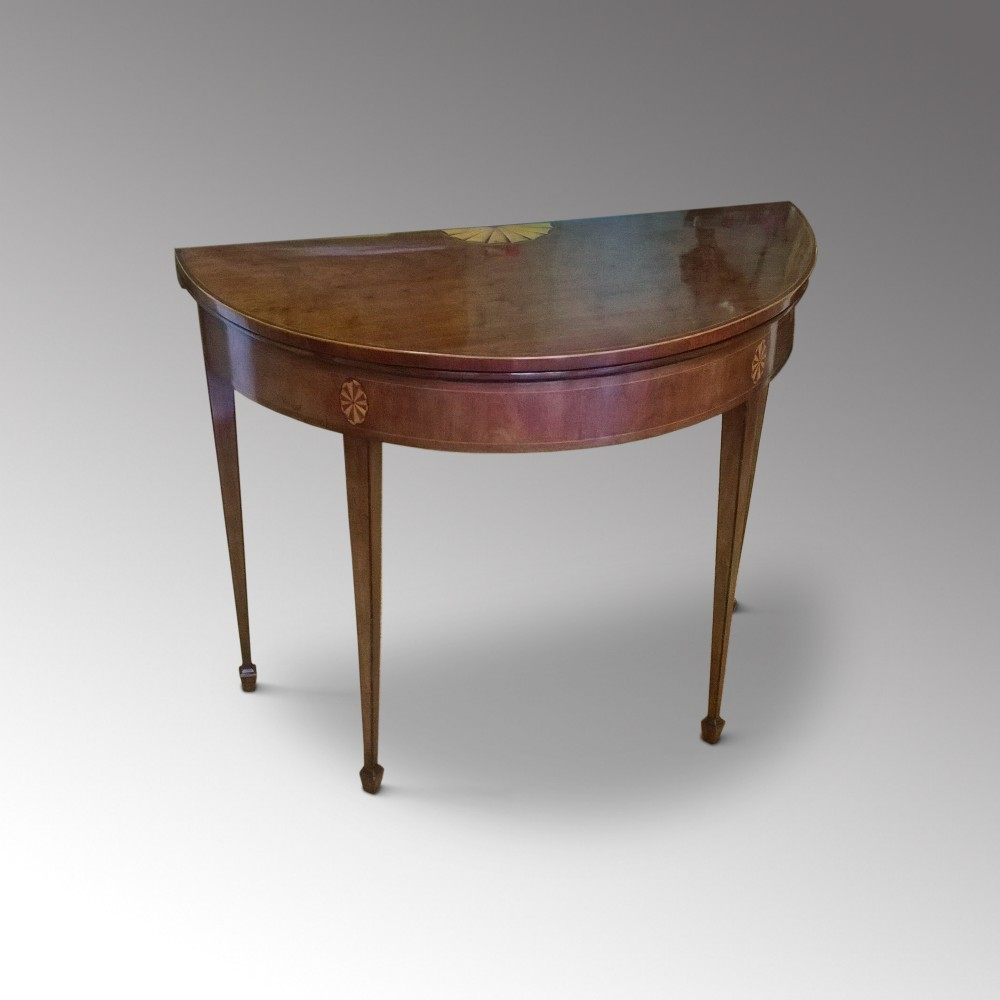 george iii mahogany half moon card table