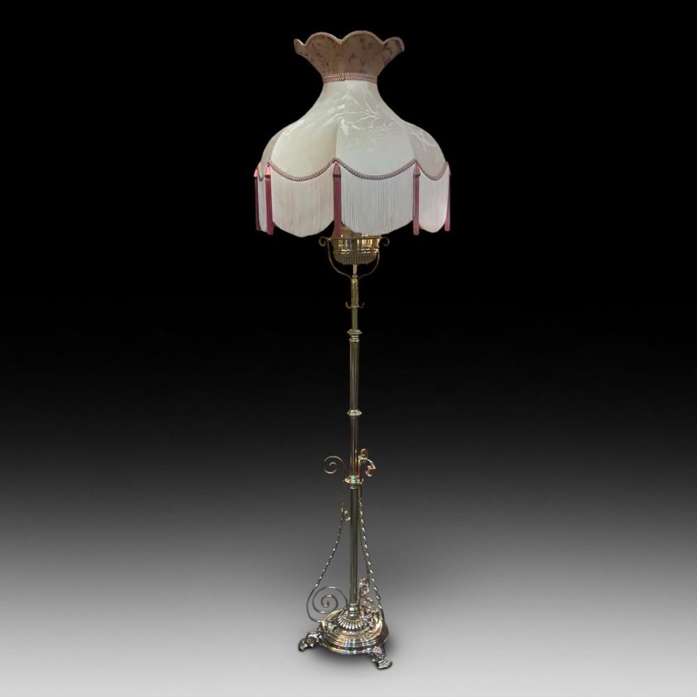 Victorian Brass Extending Oil Lamp 443689