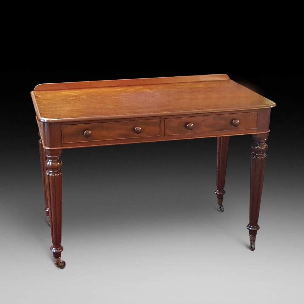early victorian mahogany writing table