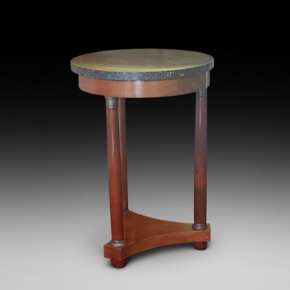 french mahogany empire revival lamp table