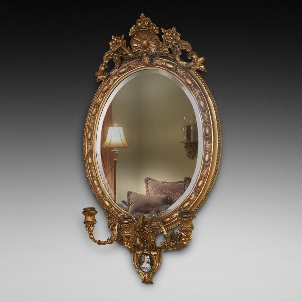 19th century gilt framed mirror