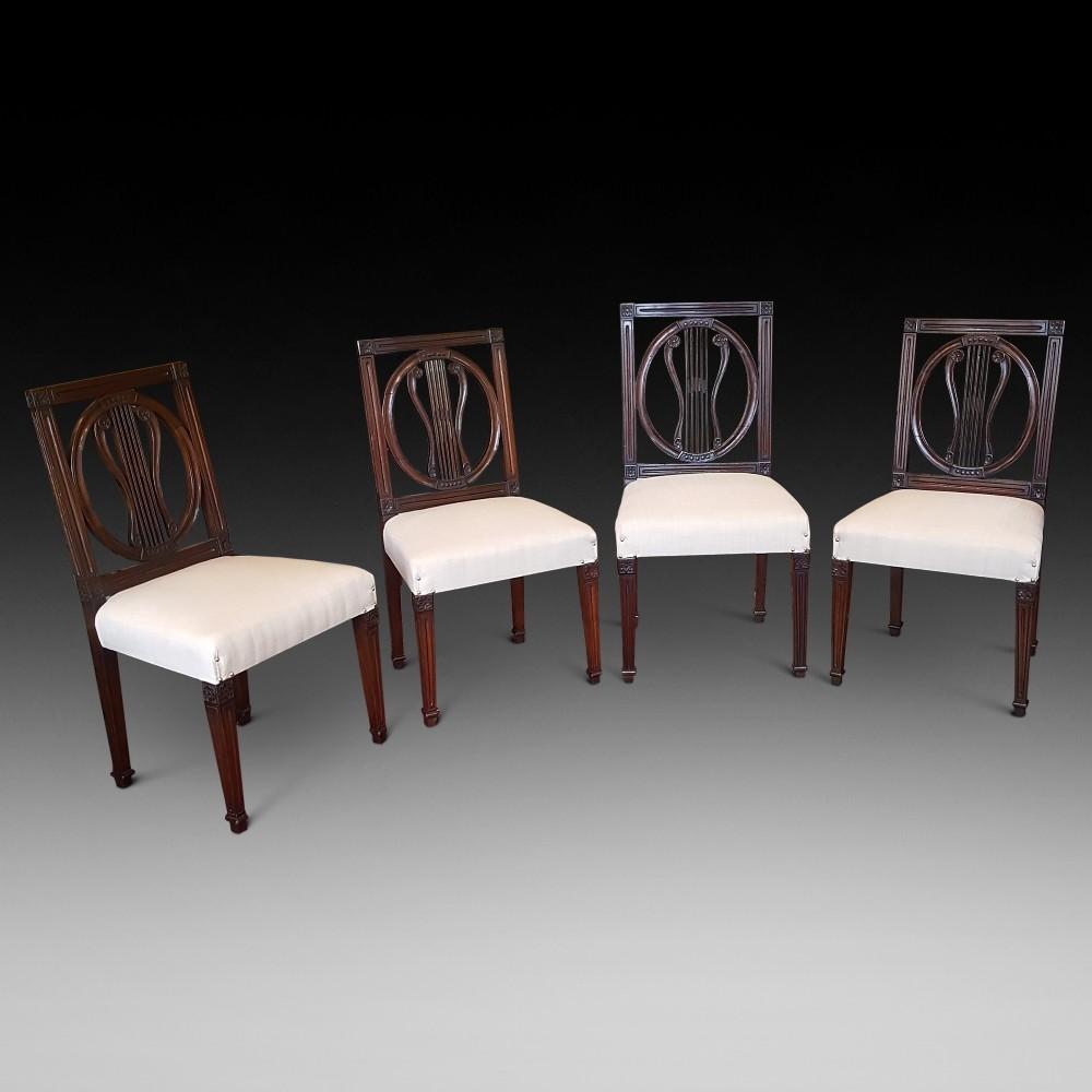 set of four regency mahogany chairs
