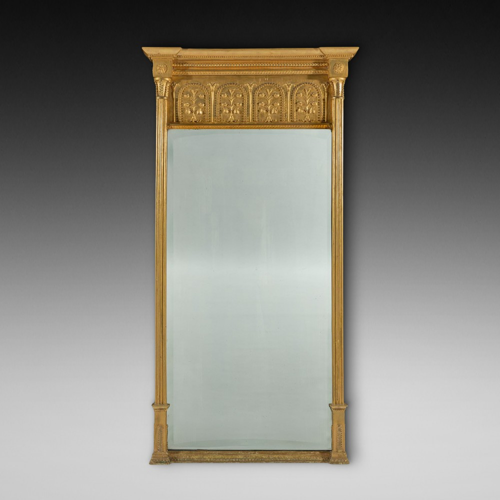 regency period giltwood pier mirror