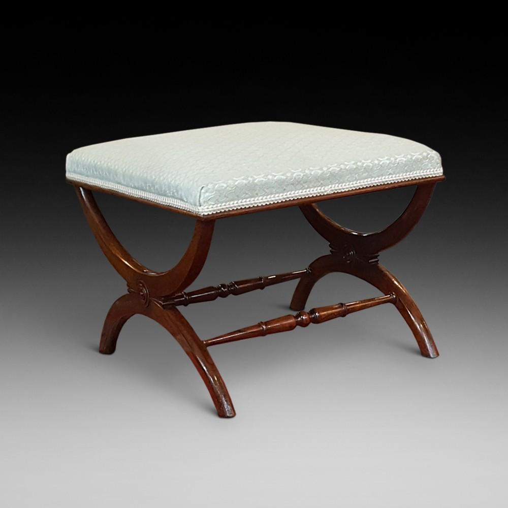 regency rosewood xstretchered stool