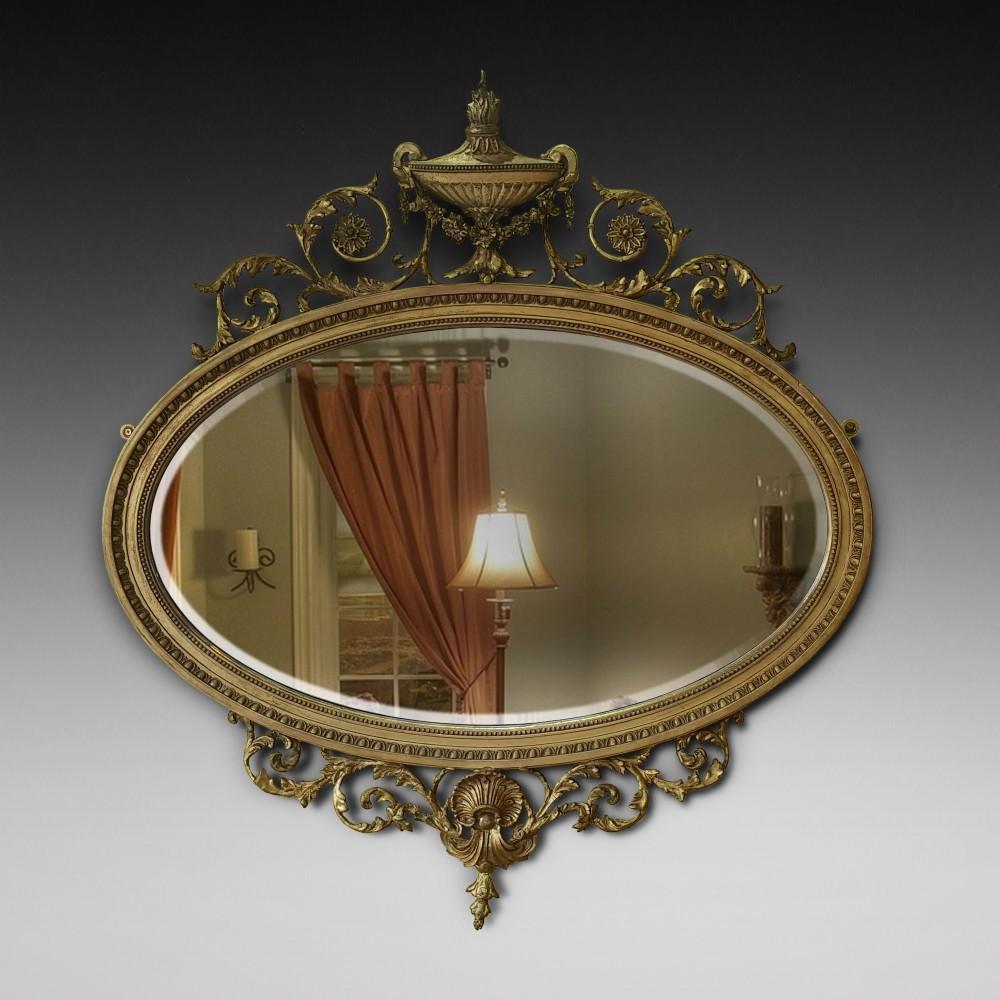adam revival giltwood and gesso mirror