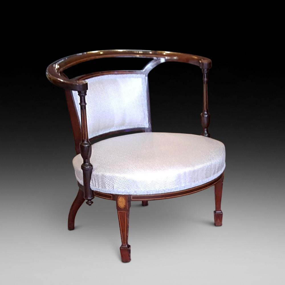 edwardian mahogany childs tub chair
