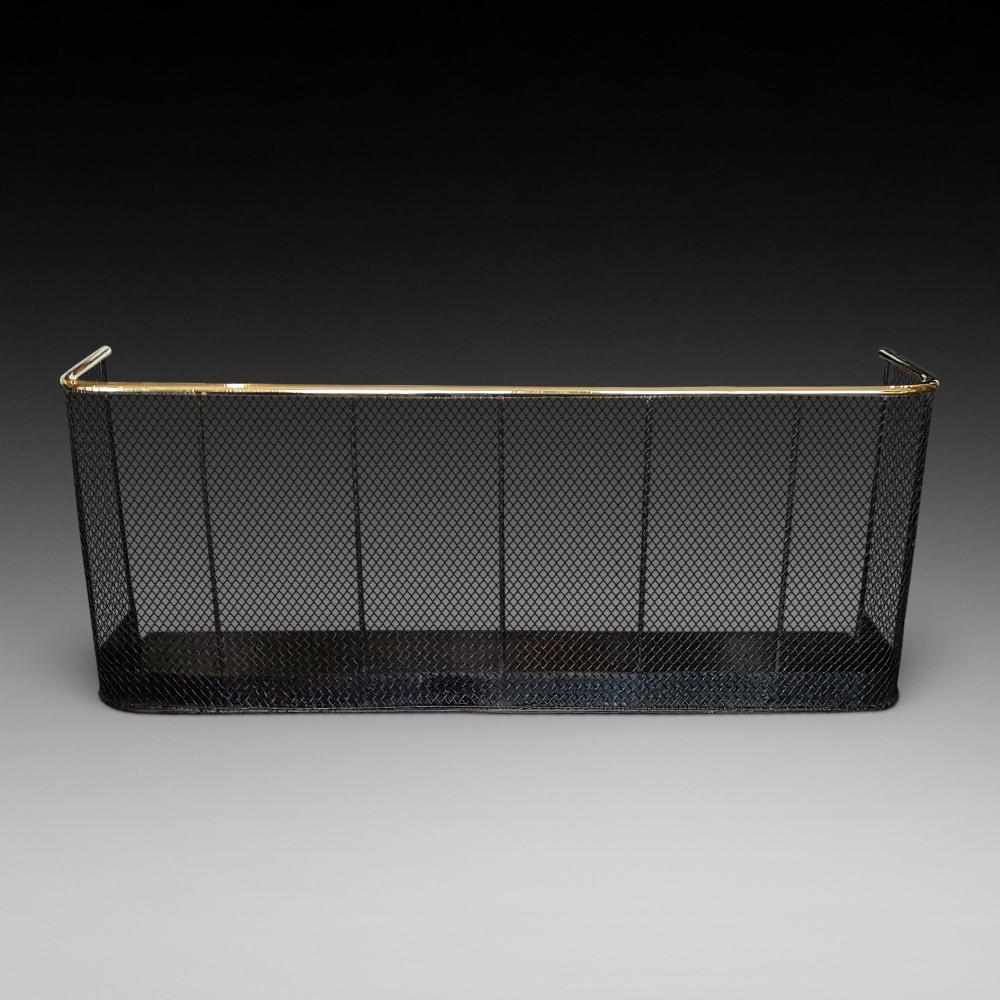 19thc metal and brass nursery fender