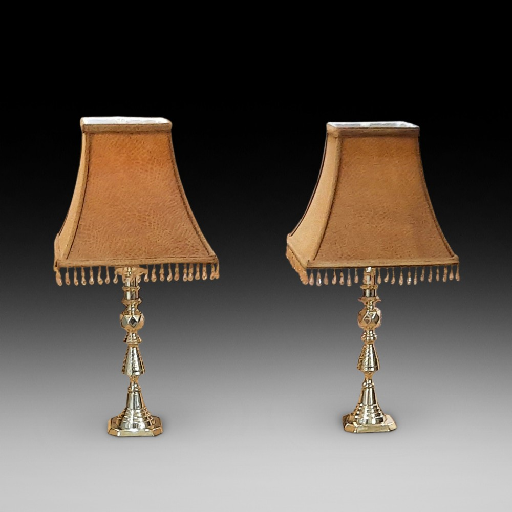 pair of late 19thc candlesticks