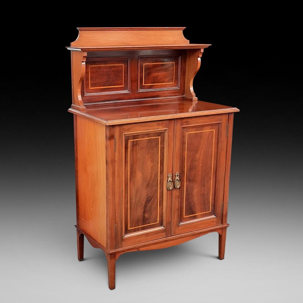 edwardian mahogany drinks side cabinet