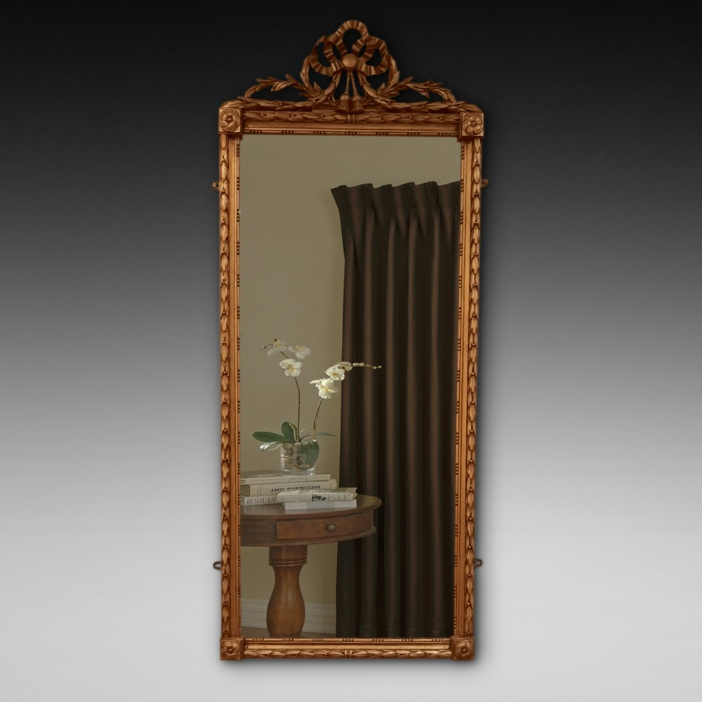 early 20thc giltwood pier mirror