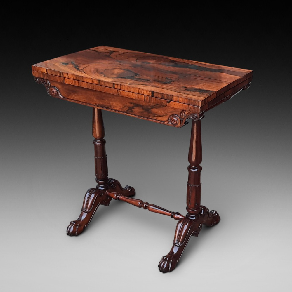 19thc gillows rosewood card table