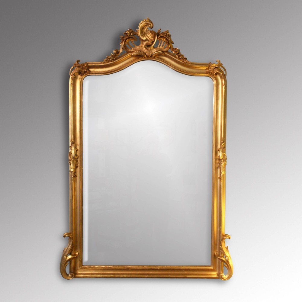 Victorian gilt overmantle mirror 256219 for Victorian mirror