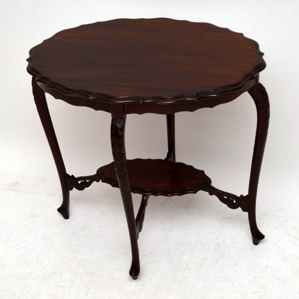 Antique edwardian carved mahogany occasional table for Occasional tables