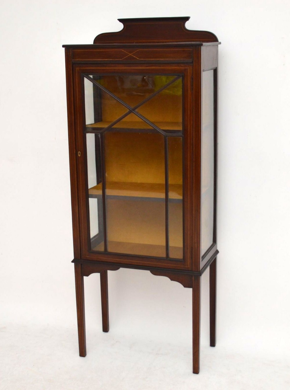 Antique edwardian inlaid mahogany display cabinet 299846 for Antique display cabinet