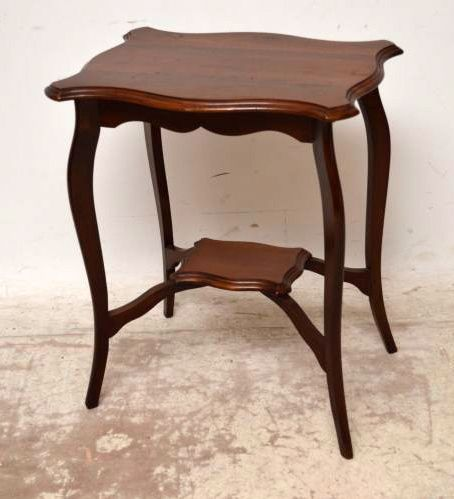 end tables vintage antique edwardian mahogany two tier side table 246087 3570
