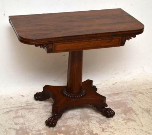 Antique William Iv Rosewood Tea Card Table 256247