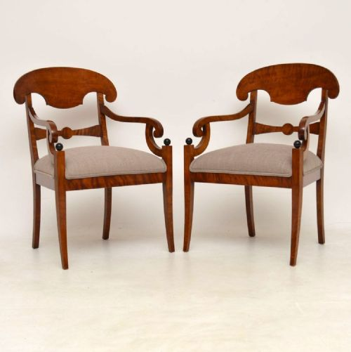Delicieux Antique Biedermeier Chairs