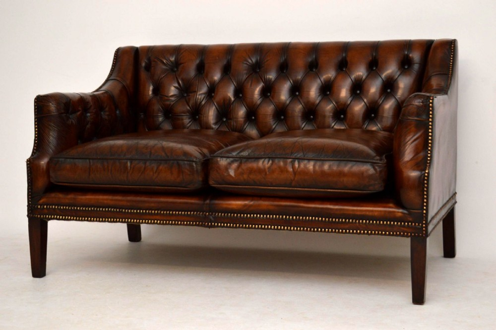 Brilliant Antique Deep Buttoned Leather Sofa 328876 Download Free Architecture Designs Terstmadebymaigaardcom