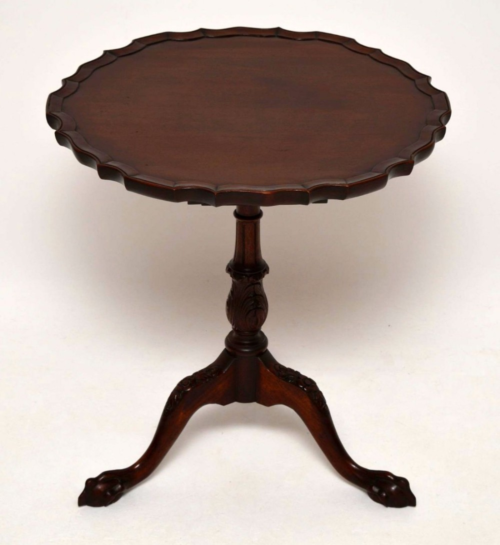 Antique Mahogany Tilt Top Pie Crust Table 433434