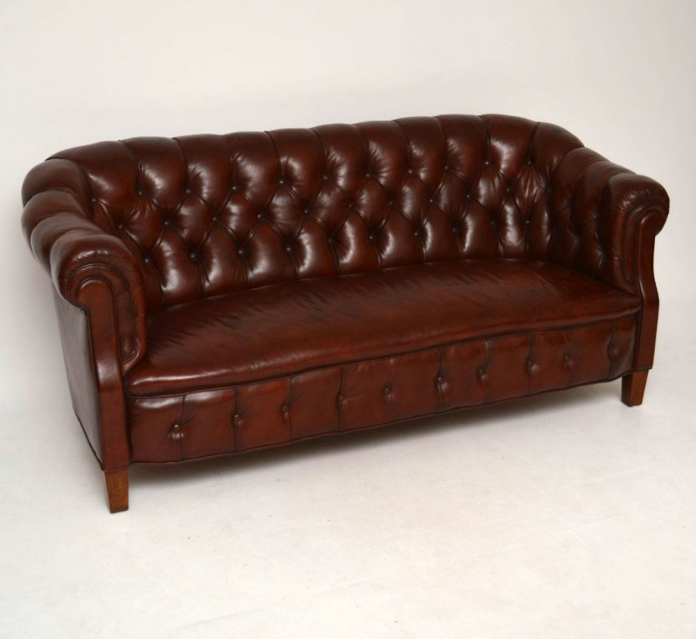 Excellent Antique Swedish Leather Chesterfield Sofa 441225 Download Free Architecture Designs Aeocymadebymaigaardcom
