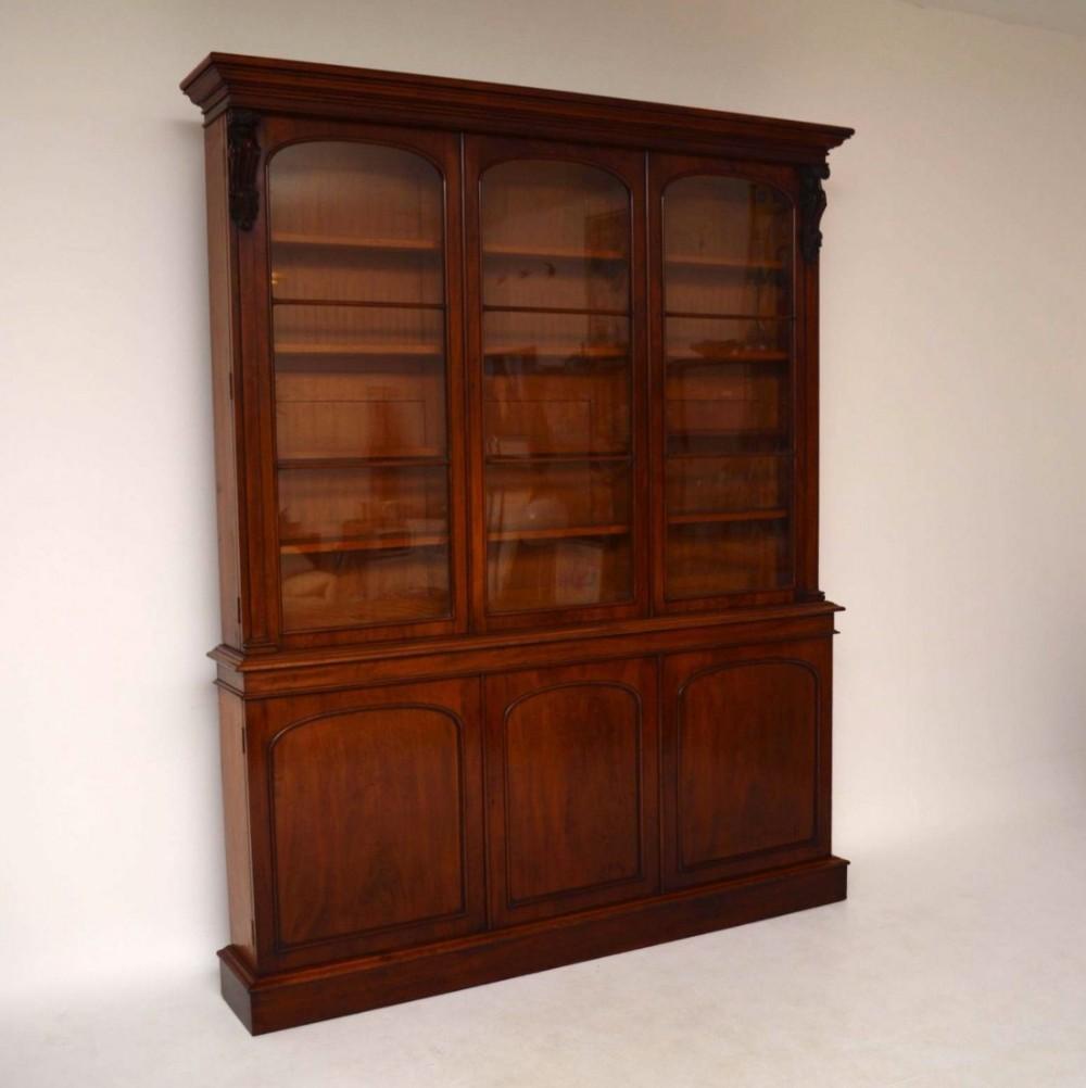 Old Bookcase Uk : Large antique victorian mahogany bookcase