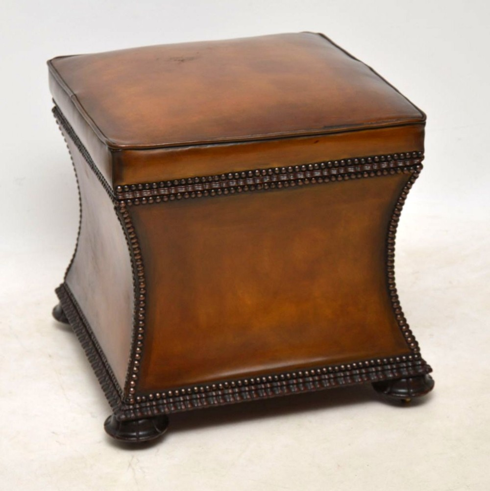 Incredible Antique William Iv Studded Leather Ottoman Stool 550269 Short Links Chair Design For Home Short Linksinfo