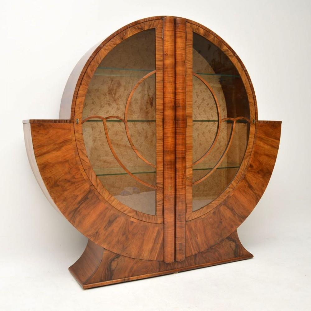 1920 S Art Deco Vintage Walnut Bookcase 580020