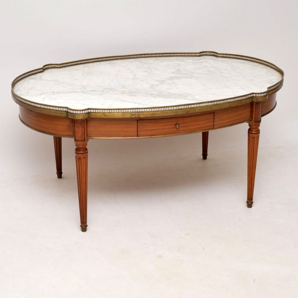 Large Antique French Marble Top Coffee Table 589723