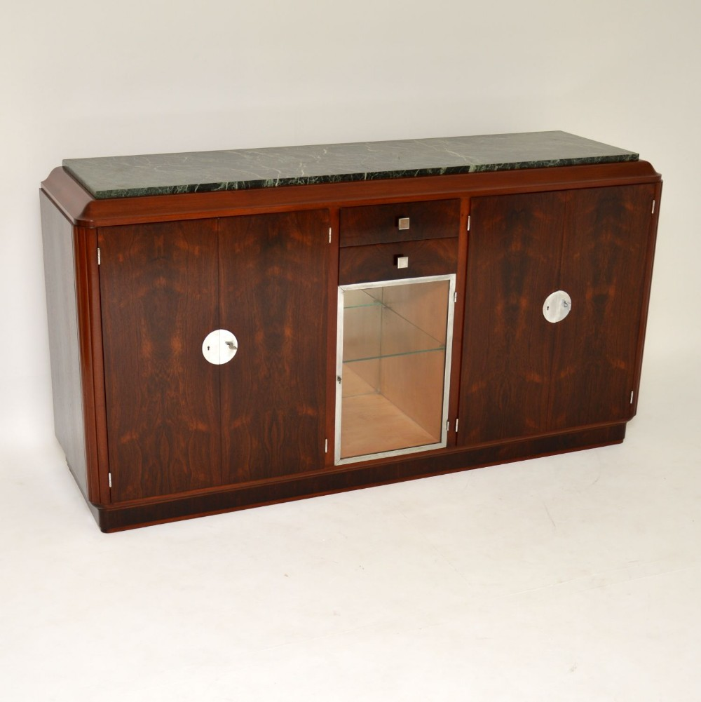 1920s french art deco rosewood marble sideboard