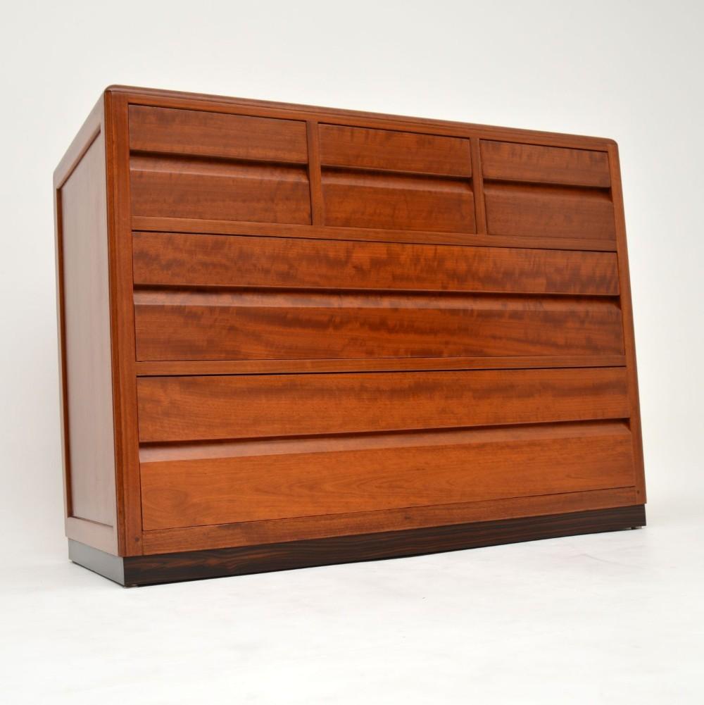 art deco mahogany chest of drawers by betty joel