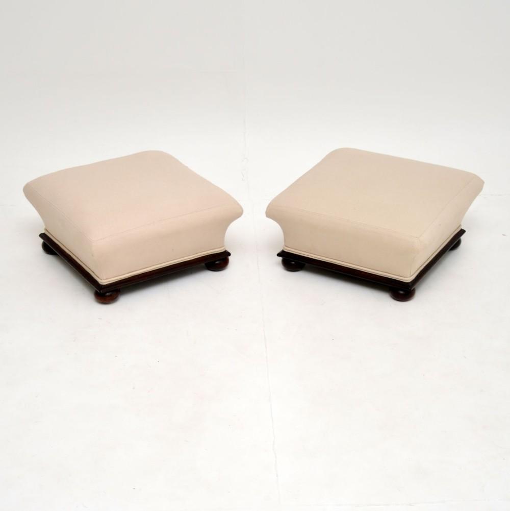 pair of antique victorian foot stools