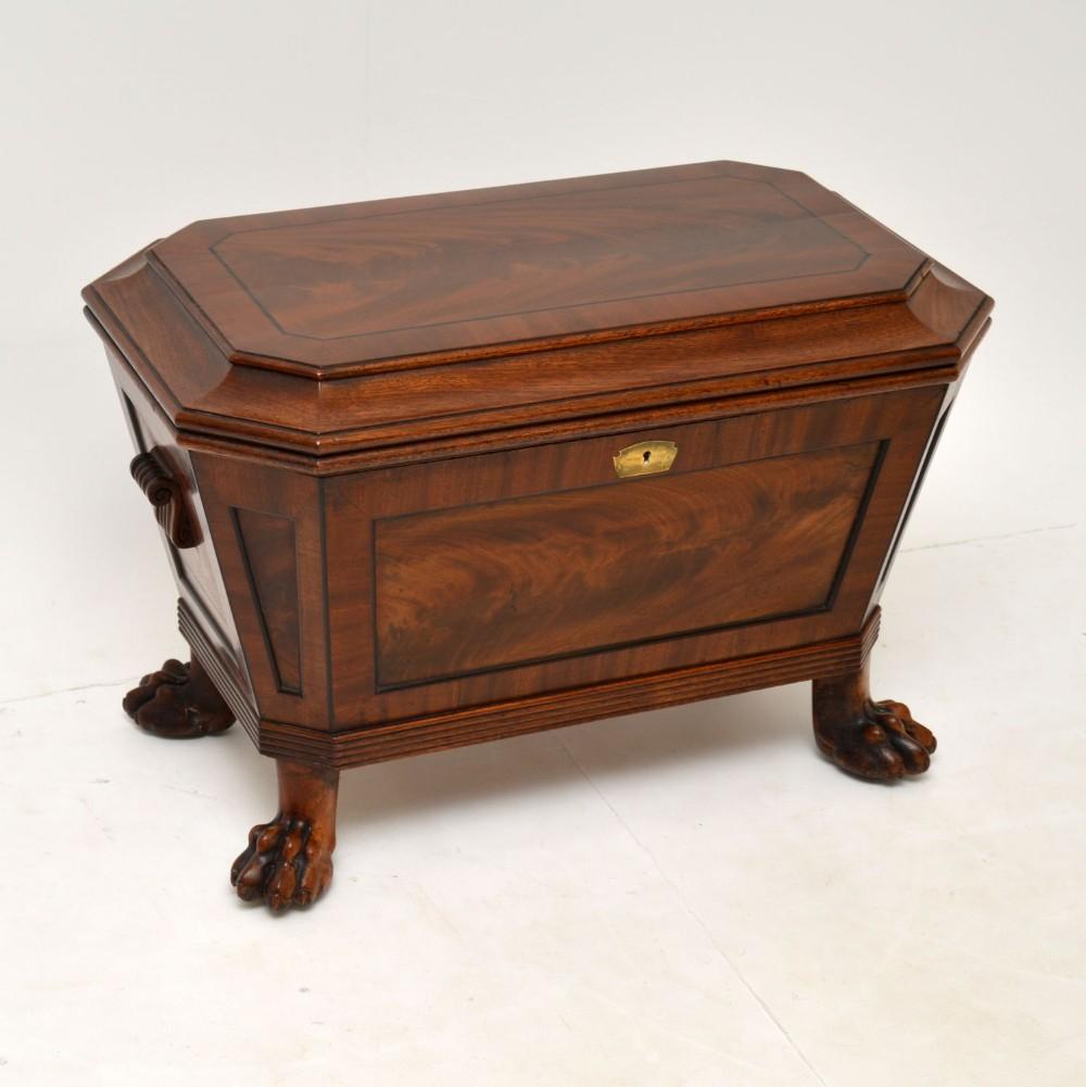 antique regency mahogany wine cooler cellarette