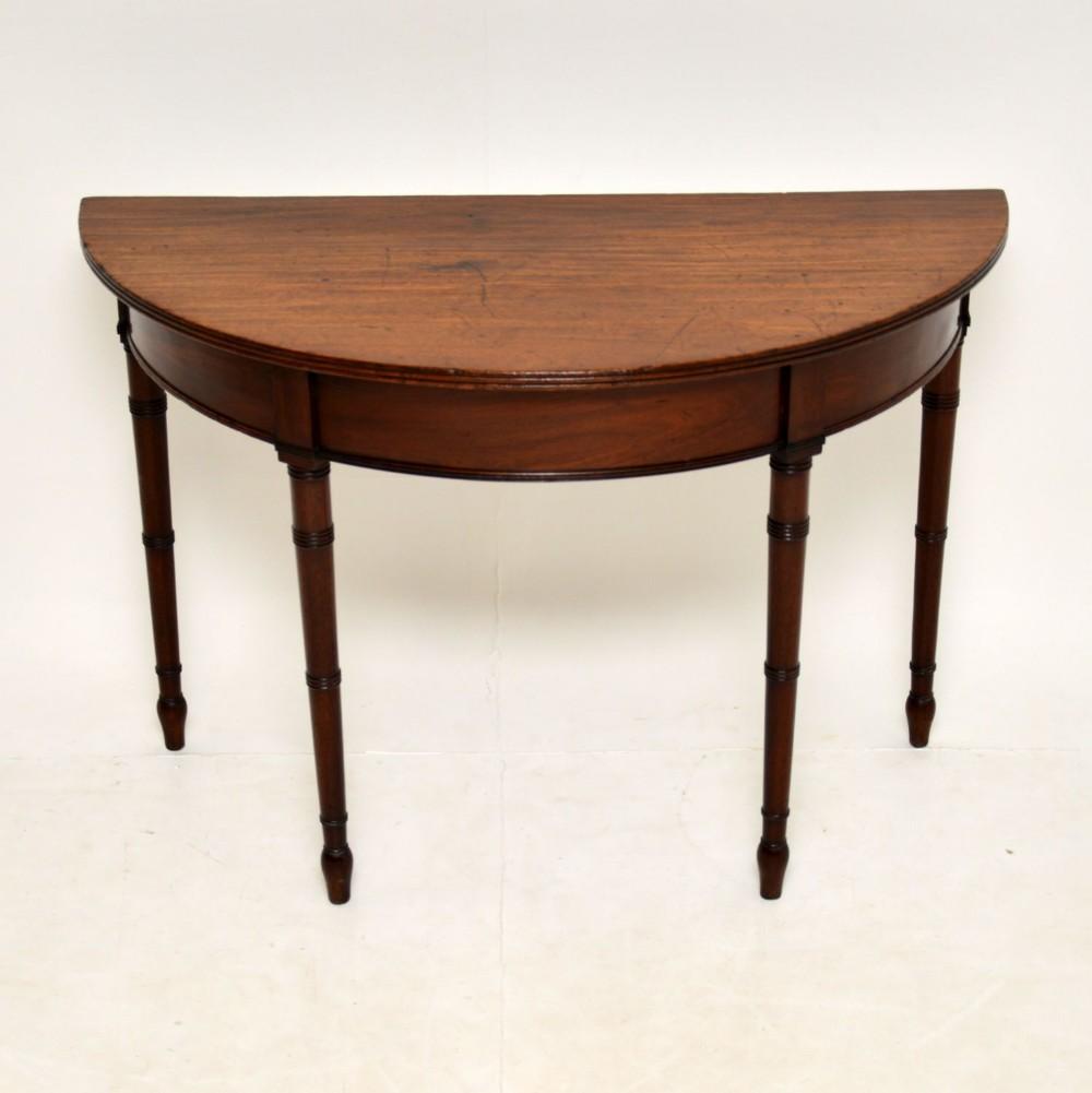 antique georgian mahogany console table