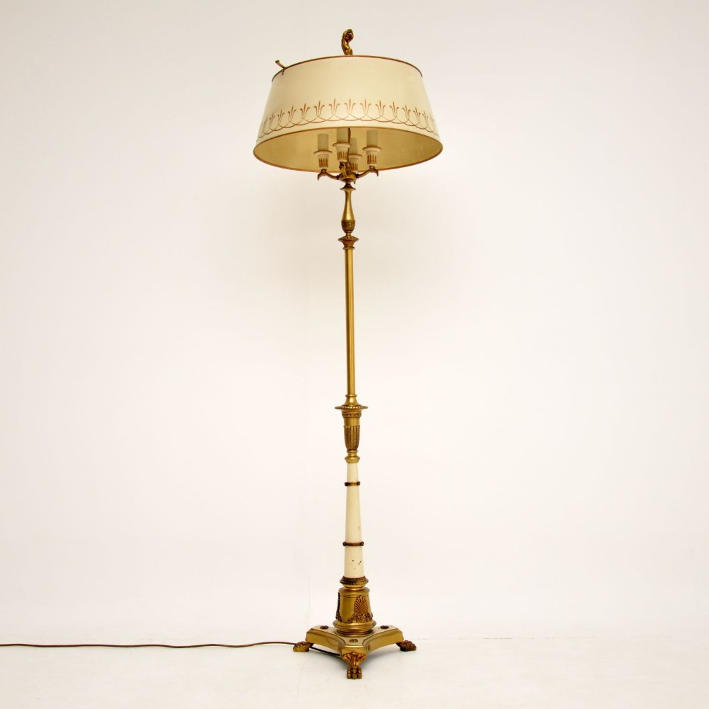antique french tole floor lamp shade