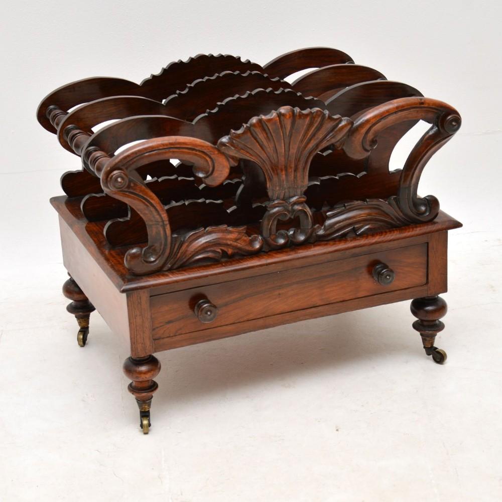 antique william iv rosewood canterbury