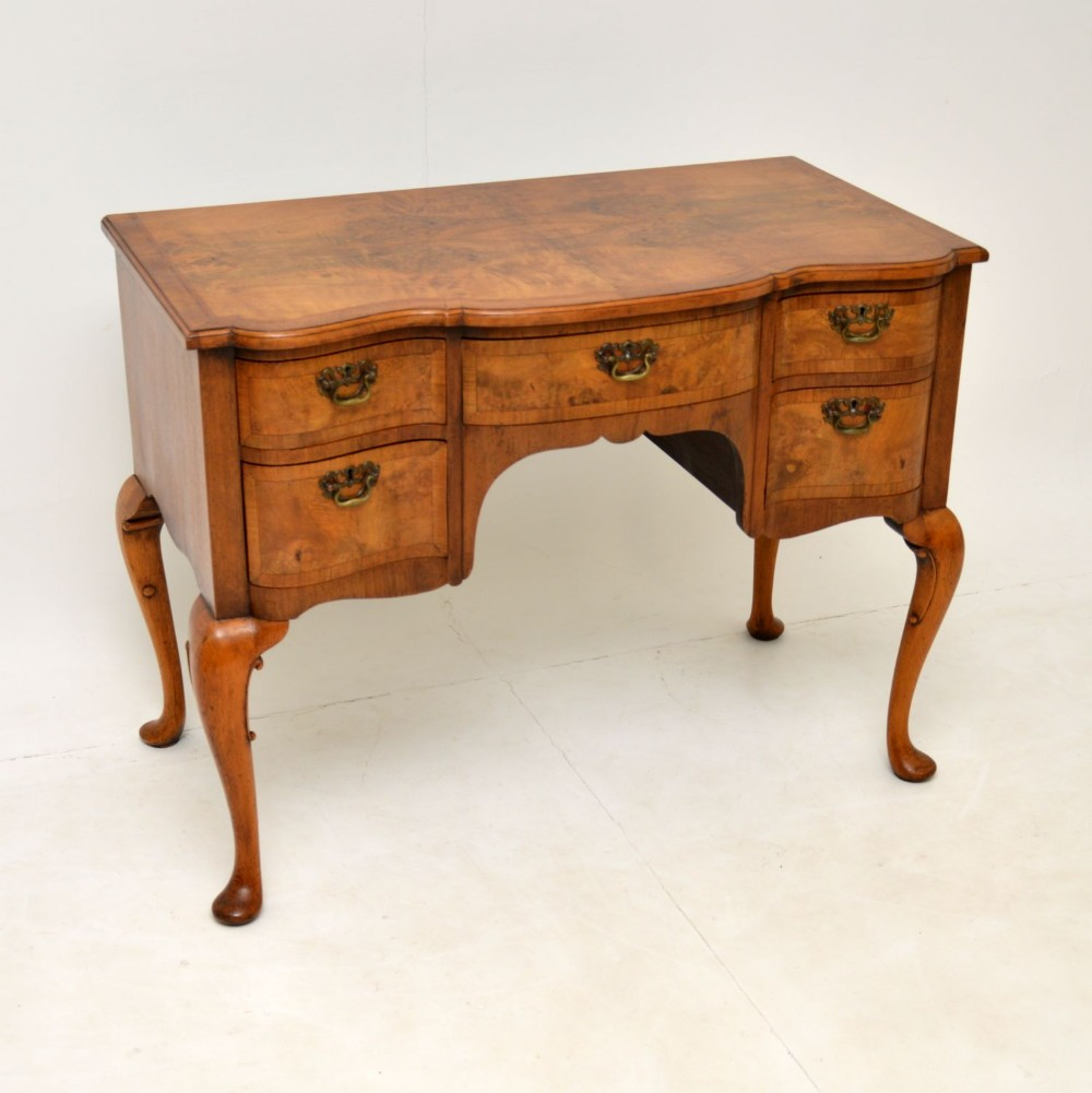 antique burr walnut lowboy dressing table