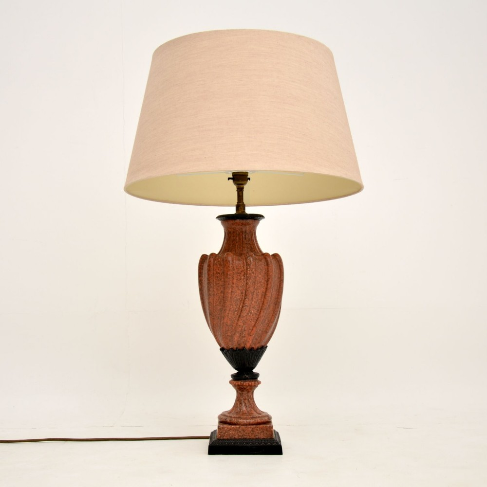 antique marble table lamp