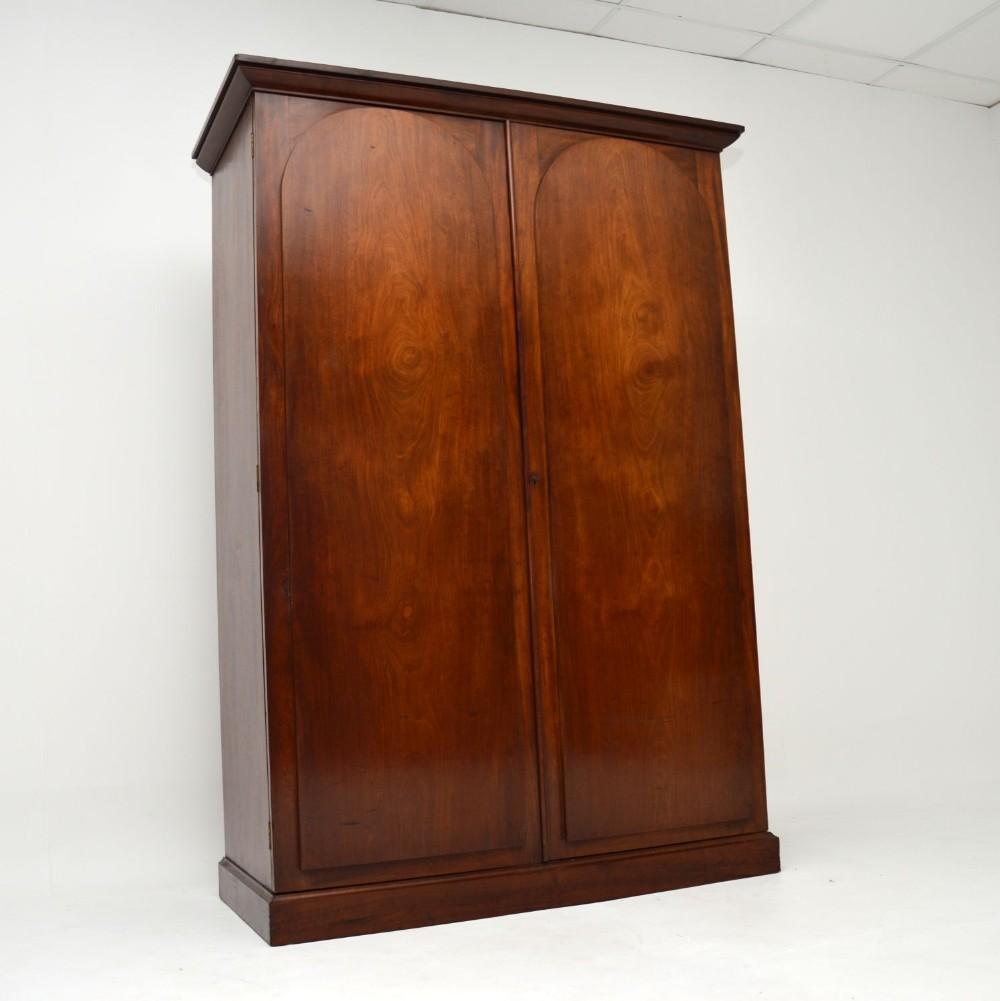 antique william iv mahogany wardrobe