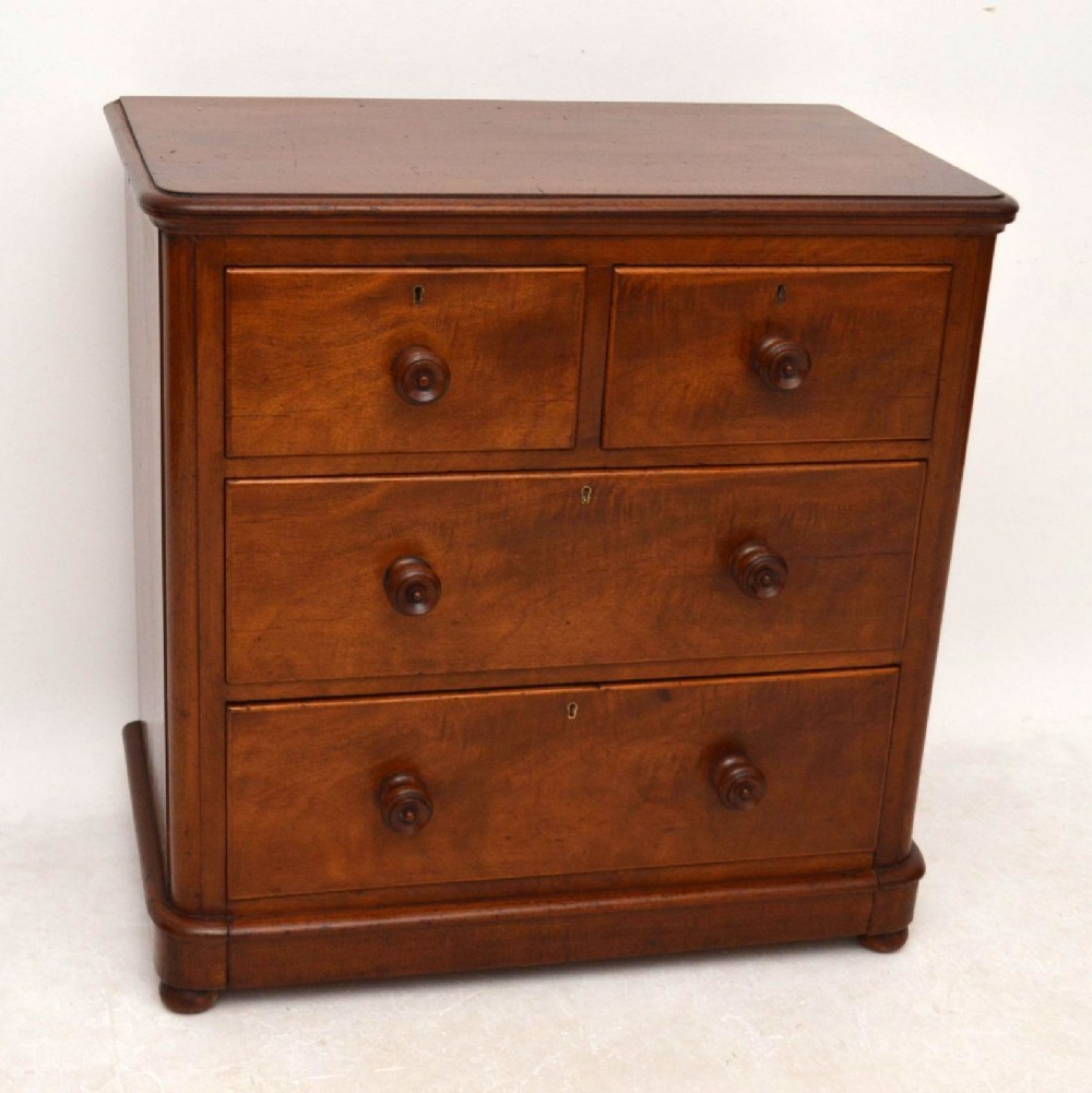 Small antique victorian mahogany chest of drawers for Small bedside chest of drawers