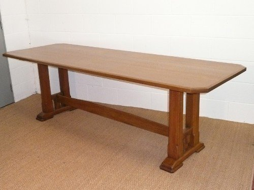Arts Crafts Oak Refectory Dining Table By Brynmawr Furniture 107327