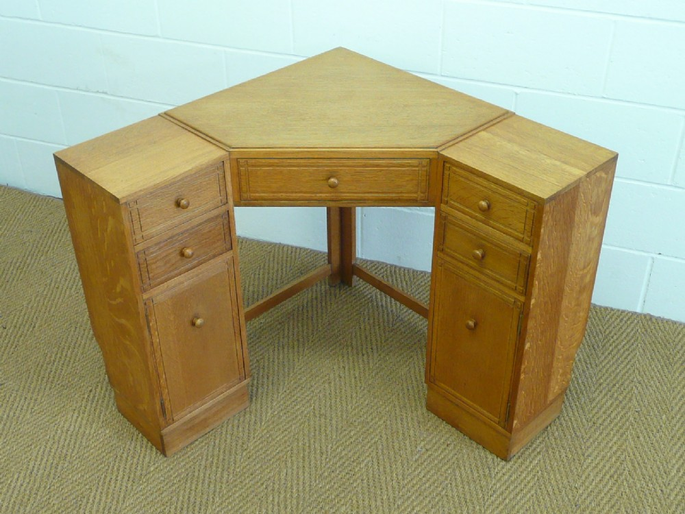 Antique Corner Desks A Large Golden Oak Corner Desk