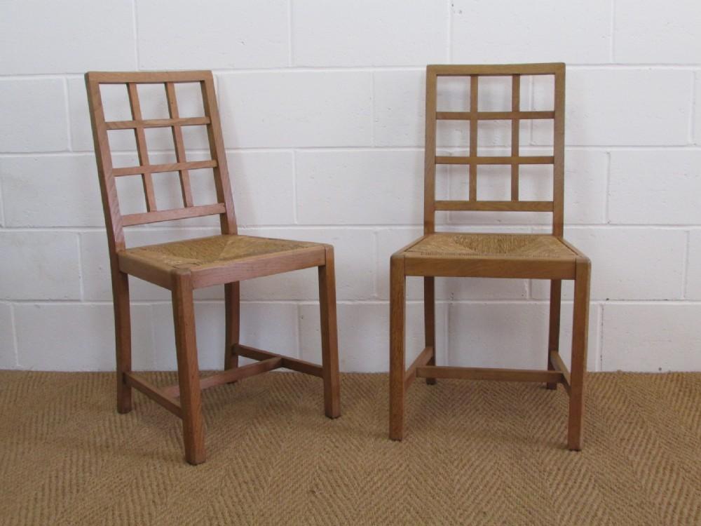 Charmant Pair Of Healu0027s Cotswold Style Oak Lattice Back Side Chairs